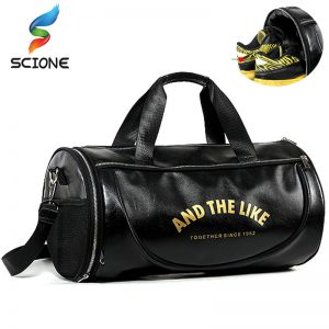 2451e59b43 2018 Top PU Outdoor Sports Gym Bag Men Women with Shoes Storage Training  Fitness Multifunction Shoulder Bags Travel Yoga HandBag